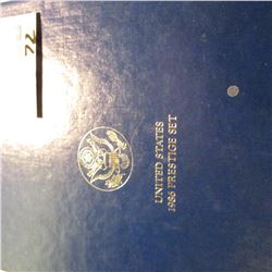 1986 Statue of Liberty Silver Prestige Proof Set. Original as issued.
