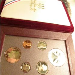 1988 U.S. Olympics Silver Prestige Proof Set. Original as issued. No outer box.