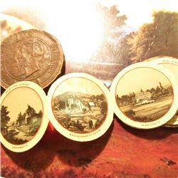 """Louise Friedrich"" Round Coin Shaped Photo Card holder ""Souvenir Von Baden-Baden"", Circa WW I or bef"