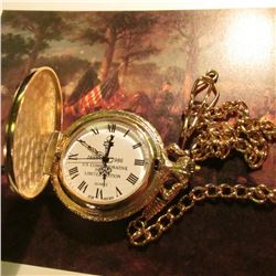 """1886-1986 U.S. Commemorative Society Limited Edition Quartz"" Closed face Pocket Watch with Watch Ch"