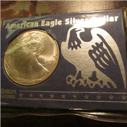 "1998 American Eagle .999 fine Silver ""Dollar"" One Ounce. Gem BU in a holder."