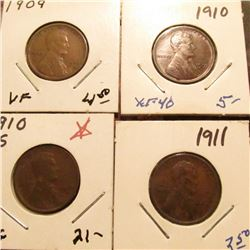 1909 P VF, 10 P EF, 10 S VG, & 11 P Fine Lincoln Cents.