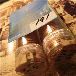 1963 & 1964 Rolls of Gem BU Canada Cents in plastic tubes. (100 coins).