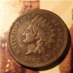 1866  Indian Head Cent. Fine.