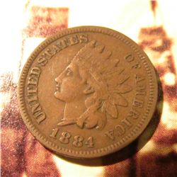 1884  Indian Head Cent. VF.