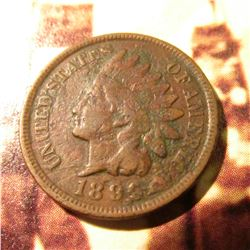 1896 Indian Head Cent. G+.