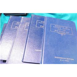 "1961 18th Ed., (2) 1964 21st Ed., & (2) 1965 22nd Ed. ""U.S. Blue Books"" or "" ""Handbook of United Sta"