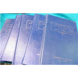 "(2) 1961 18th Ed., (2) 1964 21st Ed., & (1) 1965 22nd Ed. ""U.S. Blue Books"" or "" ""Handbook of United"