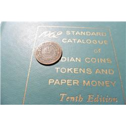 "1861 Province of Nova Scotia Half-Penny Token, VG & 1962 ""Standard Catalogue of Canadian Coins Token"