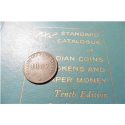 "1857 Prince Edward Island Self Government and Free Trade Token & 1962 ""Standard Catalogue of Canadia"