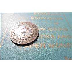 "1865 Newfoundland Canada Large Cent, Fine & 1960 ""Standard Catalogue of Canadian Coins Tokens and Pa"