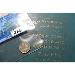 "1929 Newfoundland Silver Five Cent, VG & 1962 ""Standard Catalogue of Canadian Coins Tokens and Paper"