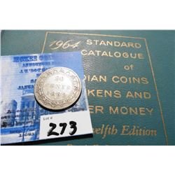 "1882 H Newfoundland Silver Twenty Piece Cent, VG & 1964 ""Standard Catalogue of Canadian Coins Tokens"