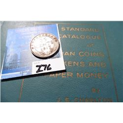 "1917C Newfoundland Silver Twenty-Five Cent, Fine & 1960 ""Standard Catalogue of Canadian Coins Tokens"