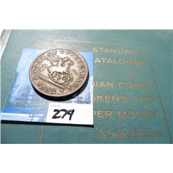 "1852 Bank of Upper Cananada One Penny Bank Token, VF & 1961 ""Standard Catalogue of Canadian Coins To"