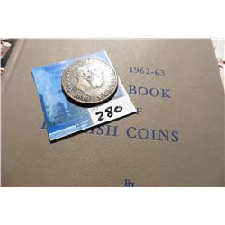 "1819 Great Britain Silver Half-Crown of King George III, VG, & ""1962-63 A Guide Book of English Coin"