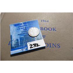 "1886 Great Britain Silver Three Pence & ""1964 A Guide Book of English Coins"", by K.E. Bressett, Thir"