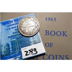 "1875 Great Britain Silver Shilling & ""1965 A Guide Book of English Coins"", by K.E. Bressett, Fourth"