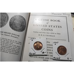 "1947 D & S Lincoln Cents, Gem BU & 1947 (First Edition) ""A Guide Book of United States Coins 1947"","