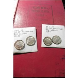 "1960 (13th Edition) ""A Guide Book of United States Coins"", by R.S. Yeoman; & (2) 1960 P & (2) 60 D T"
