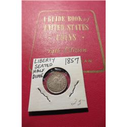 "1961 (14th Edition) ""A Guide Book of United States Coins"", by R.S. Yeoman; & a 1857 Seated Liberty H"