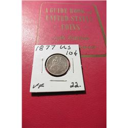 "1962 (15th Edition) ""A Guide Book of United States Coins"", by R.S. Yeoman; & a 1877 Seated Liberty D"