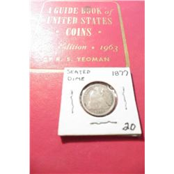 "1963 (16th Edition) ""A Guide Book of United States Coins"", by R.S. Yeoman; & a 1877 Seated Liberty D"