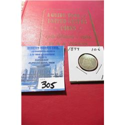 "1965 (18th Edition) ""A Guide Book of United States Coins"", by R.S. Yeoman; & a 1877 Seated Liberty D"