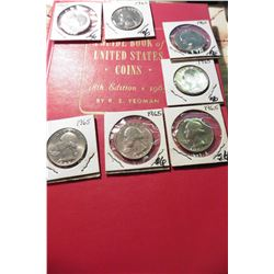"1966 (19th Edition) ""A Guide Book of United States Coins"", by R.S. Yeoman; & (7) 1965 P Gem BU Washi"