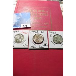 "1967 (20th Edition) ""A Guide Book of United States Coins"", by R.S. Yeoman; & a 1943 P & (2) D Silver"