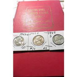 "1967 (20th Edition) ""A Guide Book of United States Coins"", by R.S. Yeoman; & a 1943 P, D, & S Silver"