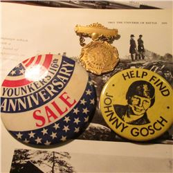 """West Des Moines High School Debating"" Gold-filled? Medal with hangar; ""Younkers 116th Anniversary S"