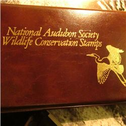 """National Audubon Society Wildlife Conservation Stamps"" Album with (5) 1987 Stamped First Day Covers"