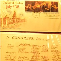 """Bicentennial of the Day of Freedom July 4 '76"", Album with Stamped cover."