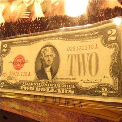"Series 1928 Two Dollar ""Red Seal"" U.S. Note. EF condition."