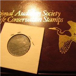 """National Audubon Society Wildlife Conservation Stamps"" Album with (6) 1989 Various ""Owls"" Stamped F"