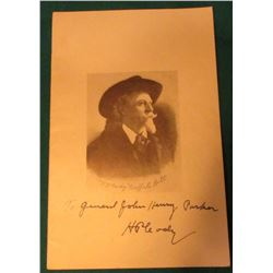 """W. J. Cody ""Buffalo Bill"""" Booklet ""13th Annual Reunion of the Cody Family Saturday and Sunday Octo"
