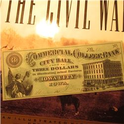"""Commercial College Bank City Hall Used as Three Dollars in illustrating actual Business Iowa City I"