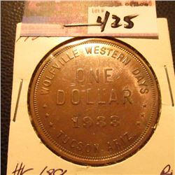 "1933 So-Called $ HK-689 ""Wolfville Western Days"" BU"