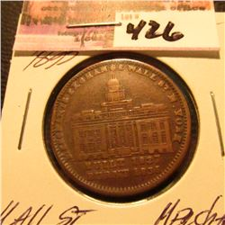 "1827/1833 Hard Times Token ""Wall Street"""