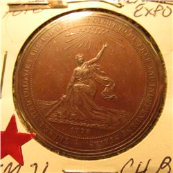 1876 Centennial Expo Official Medal So-Called $ {HK-21} CH.BU