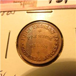 "1863 Civil War Token ""John Thomas"" Gem BU"