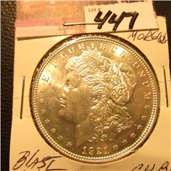 1921 Morgan Silver Dollar. CH.BU Blast White