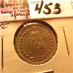 1882B 1/2 Franc Silver Switzerland  Better Date BU Catalogs @ $635 in UNC