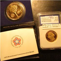 1972 American Revolution Bicentennial medal in original U.S. Mint issued holder & 2007 S Washington