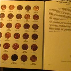 1959-1998 Complete Set of Lincoln Cents in a in a Littleton folder.