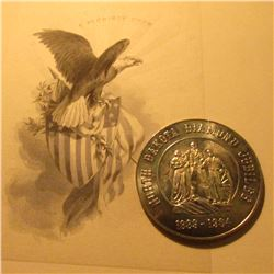 1889-1984 North Dakota Diamond Jubilee Medal, Souvenir Half-Dollar & an American Eagle vignette of E
