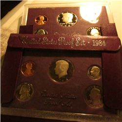 1984 S & 85 S U.S. Proof Sets in original cases as issued. Some minor toning.