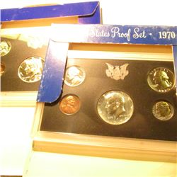 1968 S & 70 S Silver U.S. Proof Sets in original cases as issued. Some minor toning.
