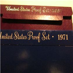 1971 S & 87 S U.S. Proof Sets in original cases as issued. Some minor toning.